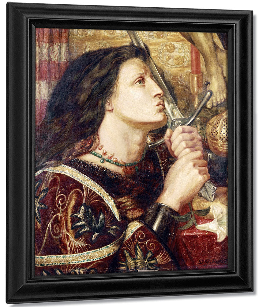 Joan Of Arc Kissing The Sword Of Deliverance By Dante Gabriel Rossetti