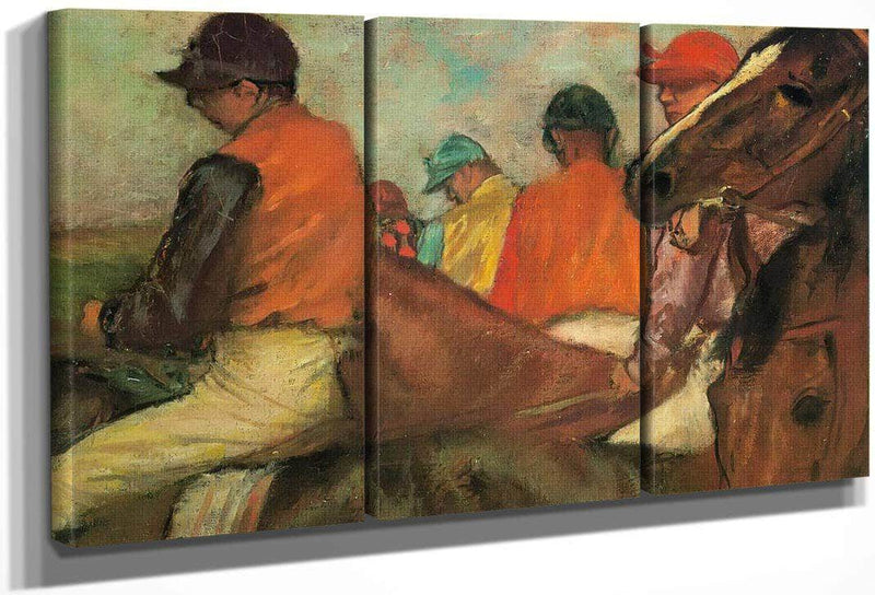 Jockeys By Edgar Degas