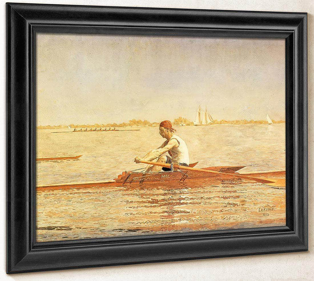 John Biglin In A Single Scull 2 By Thomas Eakins