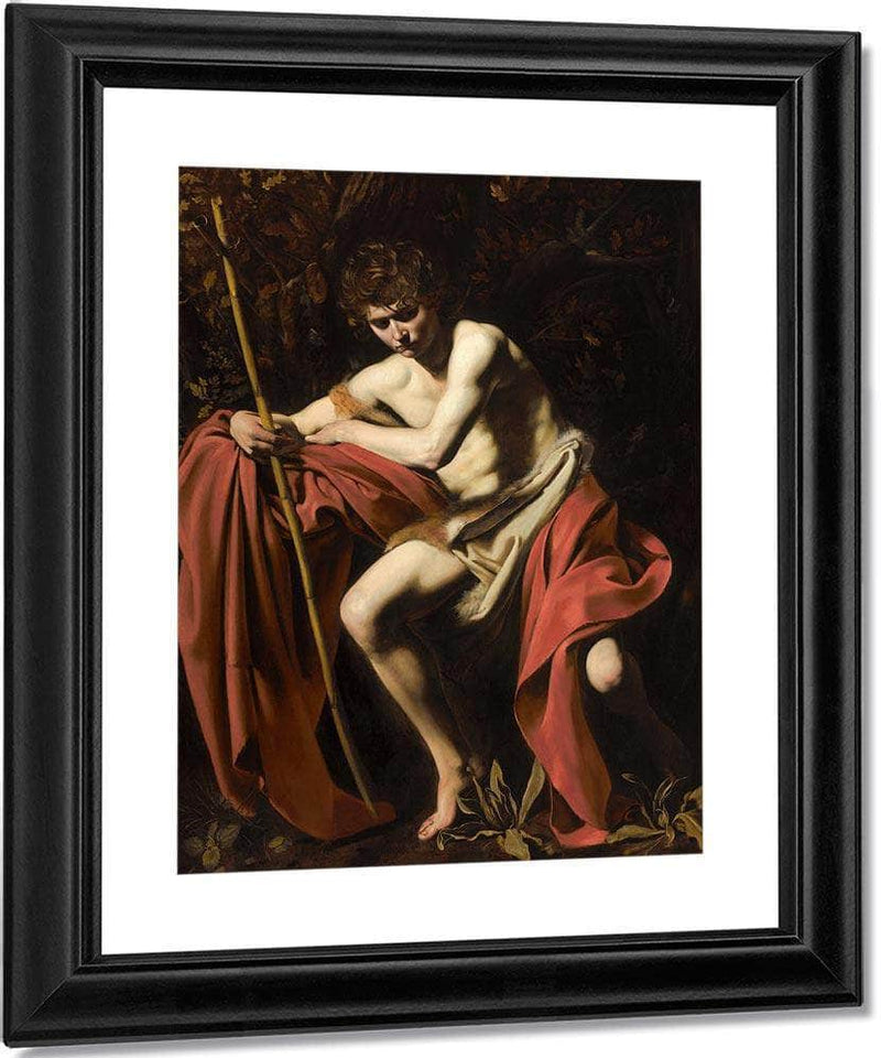 John The Baptist In The Wilderness By Caravaggio