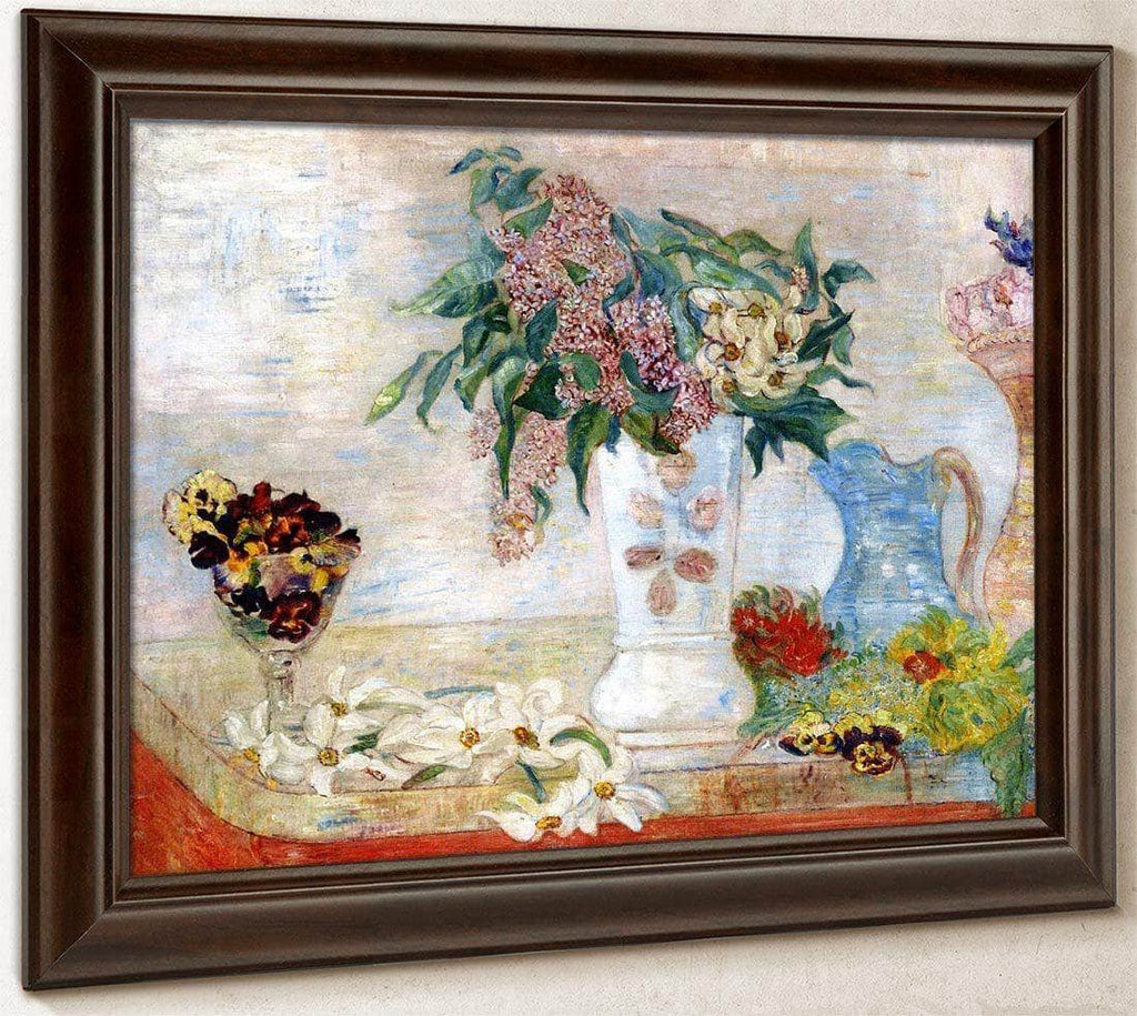 Jonquils, Lilacs And Violets By James Ensor
