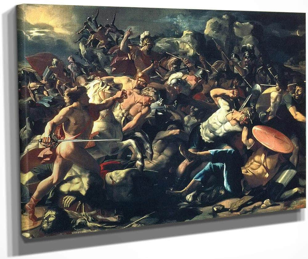 Joshuas Victory Over The Amorites By Nicholas Poussin
