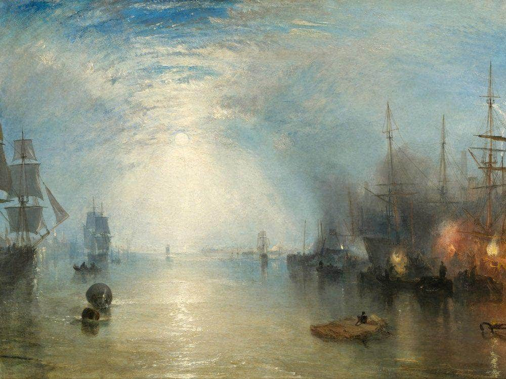 Keelmen Heaving In Coals By Moonlight 1835 1 By Joseph Mallord William Turner