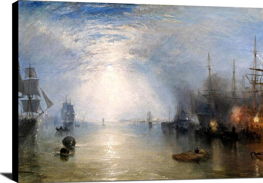 Keelmen Heaving In Coals Moonlight J.m.w. Turner Canvas Art