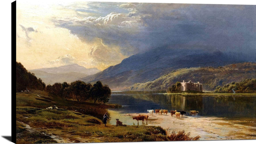 Kilchurn Castle, Loch Awe Painting Sidney Richard Percy Canvas Art