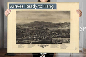 Kingfield Me Franklin Co 1895 Vintage Map