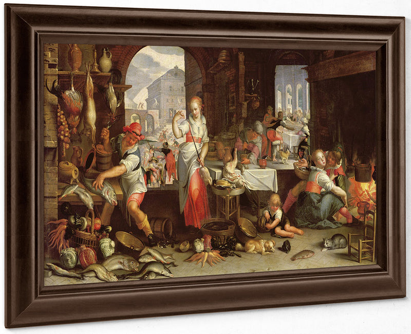 Kitchen Scene With The Parable Of The Feast By Joachim Wtewael
