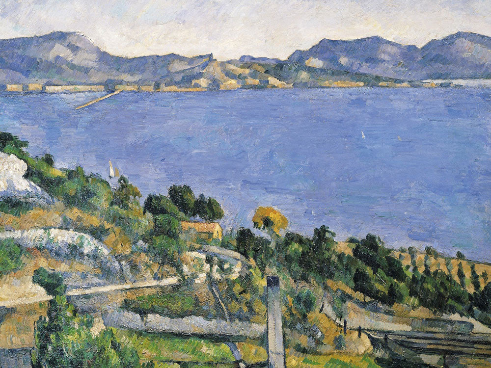 L'estaque, View Of The Bay Of Marseilles By Paul Cezanne