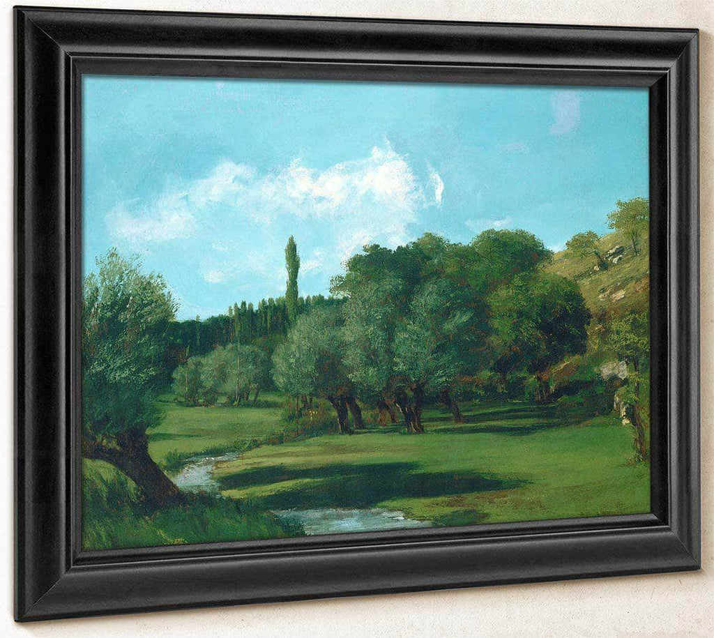 La Bretonnerie In The Department Of Indre By Gusave Courbet