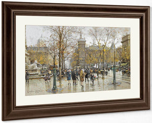 La Place Du Chatelet 2 By Eugene Galien Laloue