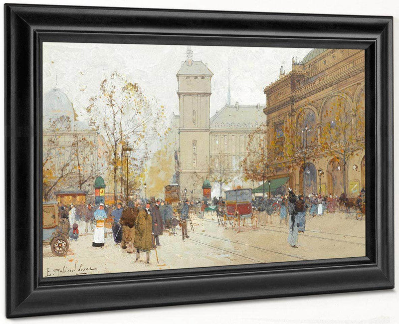 La Place Du Chatelet By Eugene Galien Laloue