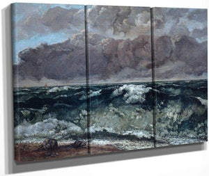 La Vague By Gustave Courbet