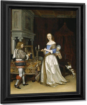 Lady At Her Toilette By Gerard Ter Borch The Younger