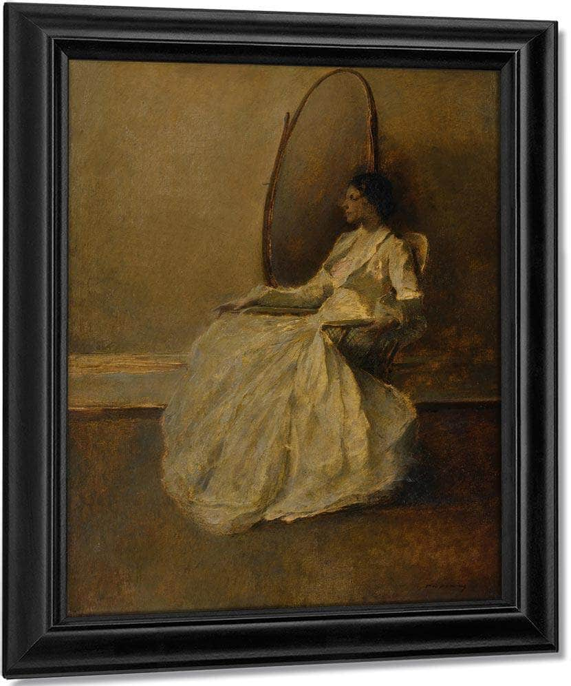 Lady In White (No. 1) By Thomas Wilmer Dewing