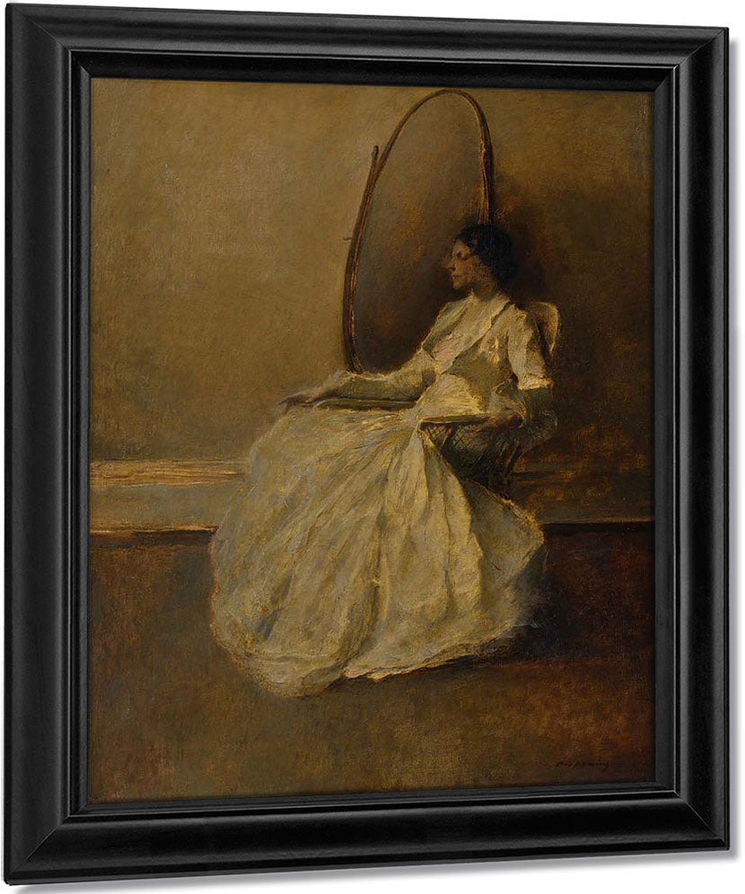 Lady In White By Thomas Wilmer Dewing
