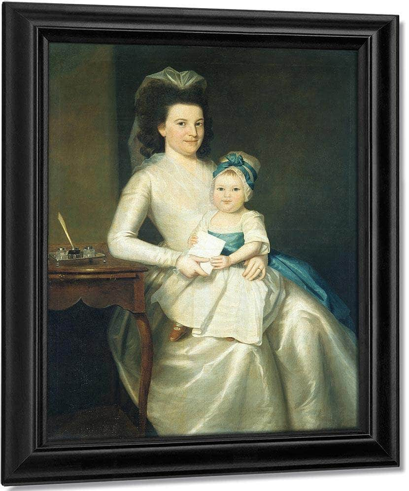 Lady Williams And Child By Ralph Earl