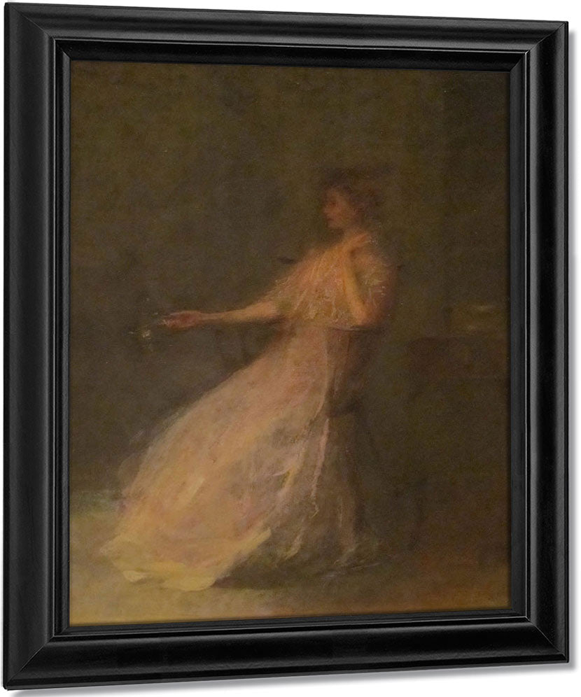 Lady With A Rose By Thomas Wilmer Dewing