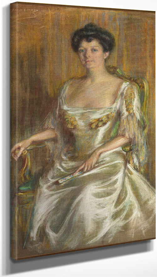 Lady With Fan By Alice Pike Barney