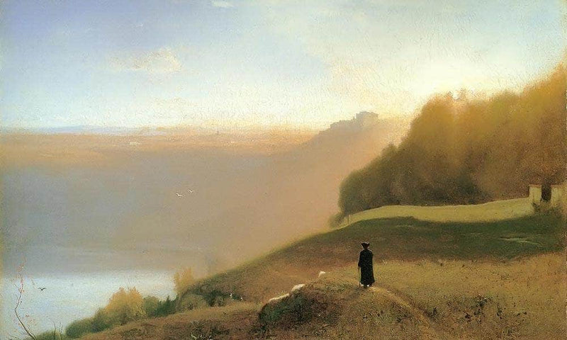 Lake Nemi By George Inness