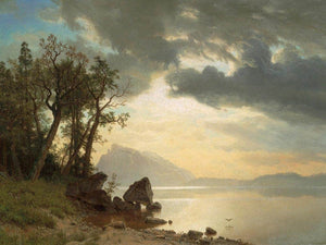 Lake Tahoe California By Albert Bierstadt