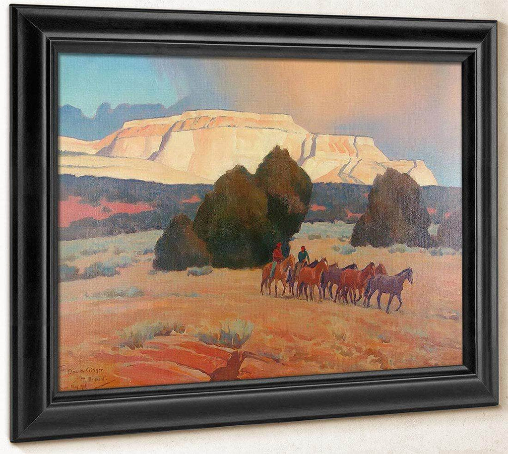 Land Of White Mesas By Maynard Dixon