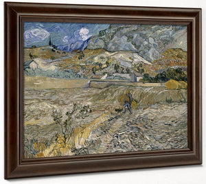 Landscape At Saint Remy (Enclosed Field With Peasant) By Vincent Van Gogh