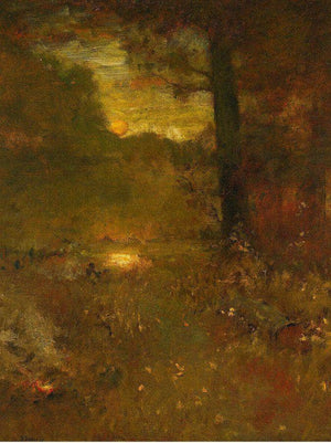 Landscape At Sundown; The Close Of Day (The Veteran's Return) By George Inness