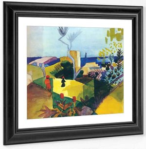 Landscape In Hammamet By August Macke