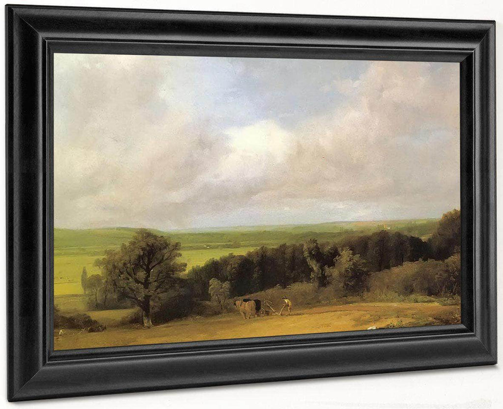 Landscape Ploughing Scene In Suffolk( A Summerland) By John Constable