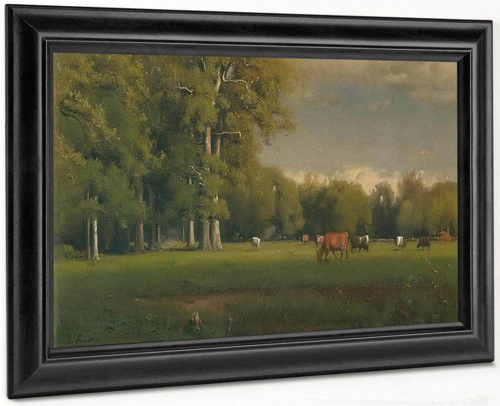 Landscape With Cattle By George Inness