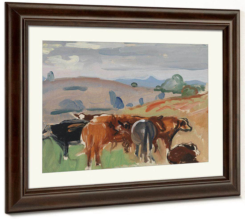 Landscape With Cattle By Pierre Daura