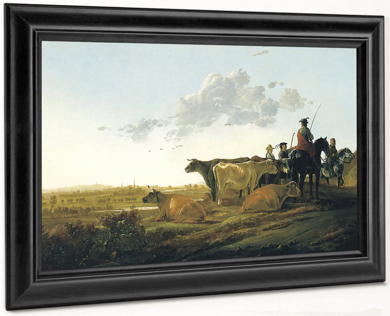 Landscape With Herdsmen By Aelbert Cuyp