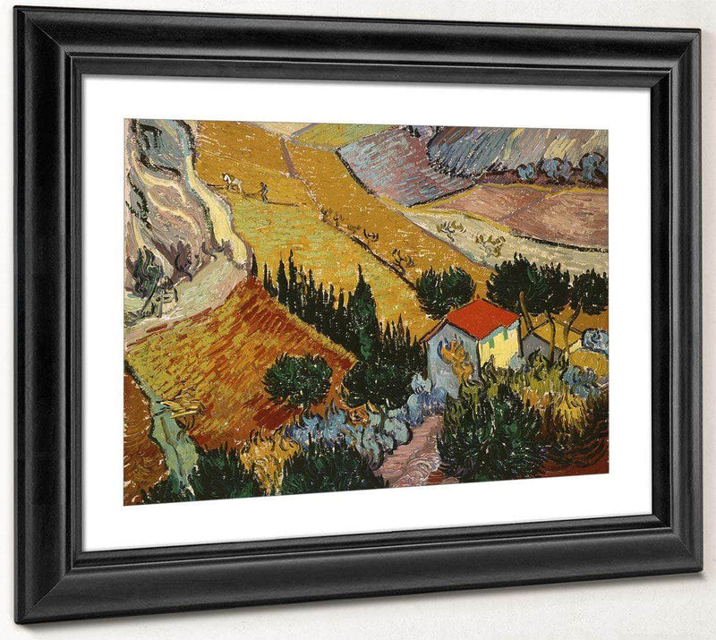 Landscape With House And Ploughman By Vincent Van Gogh