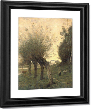 Landscape With Pollard Willows By Camille Corot