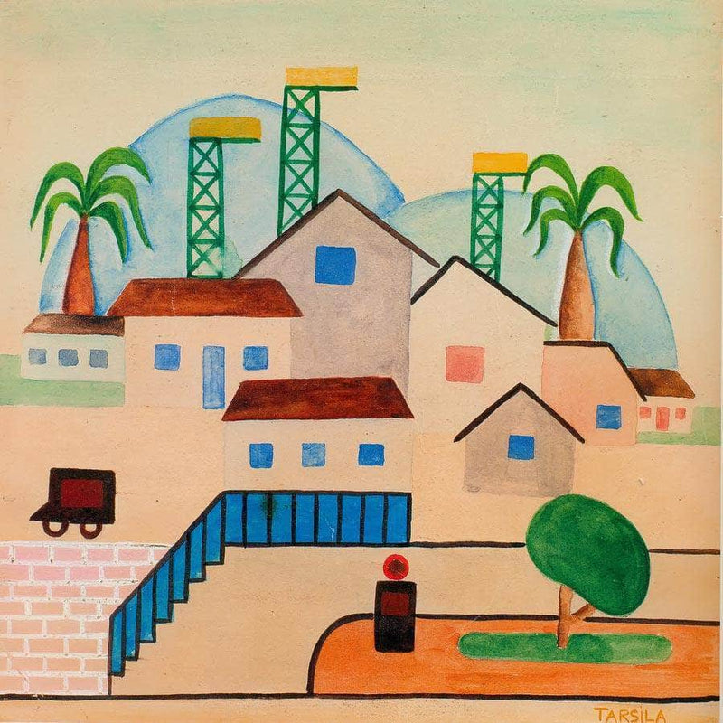 Landscape With Railroad By Tarsila Do Amaral