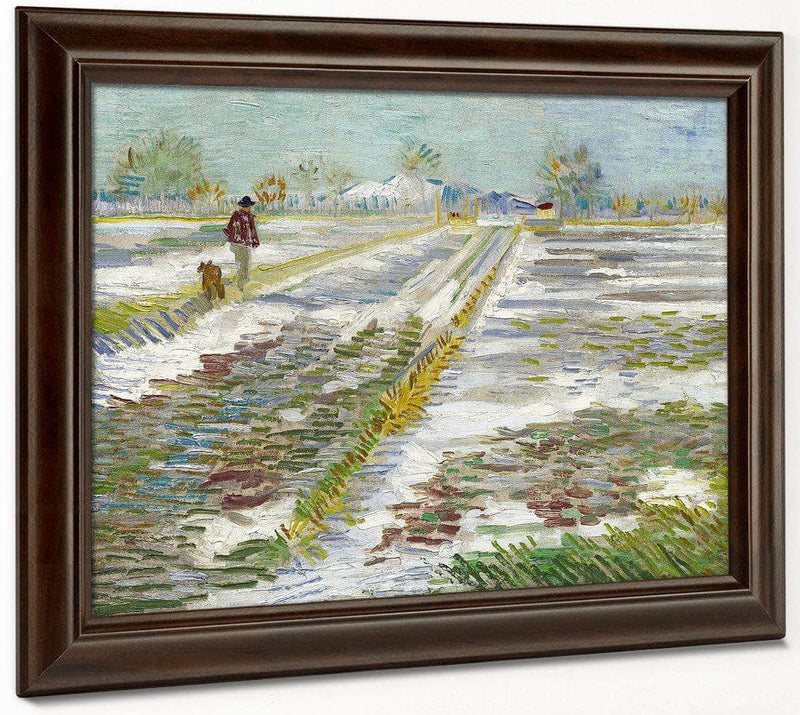 Landscape With Snow (Paysage Enneige) By Vincent Van Gogh