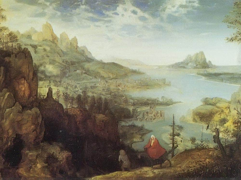 Landscape With The Flight Into Egypt By 1563 By Pieter Bruegel