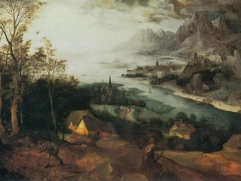 Landscape With The Parable Of The Sower 1557 By Pieter Bruegel