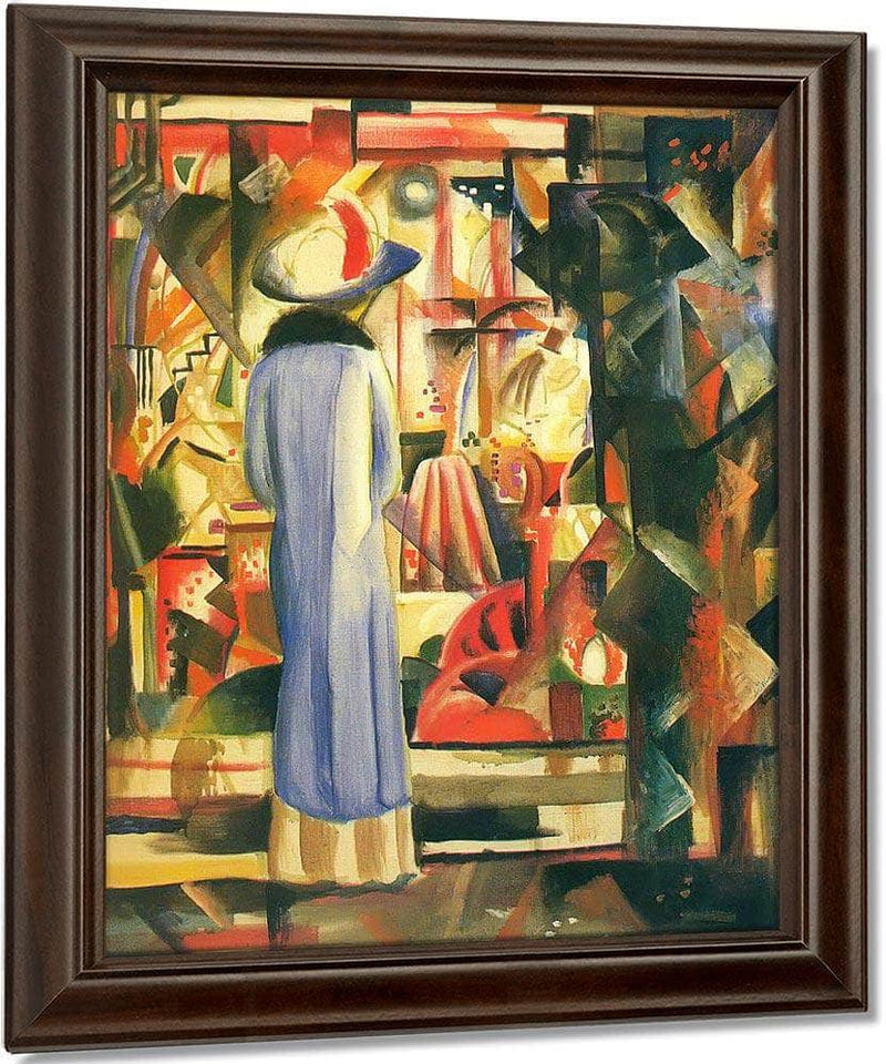 Large Bright Window By August Macke