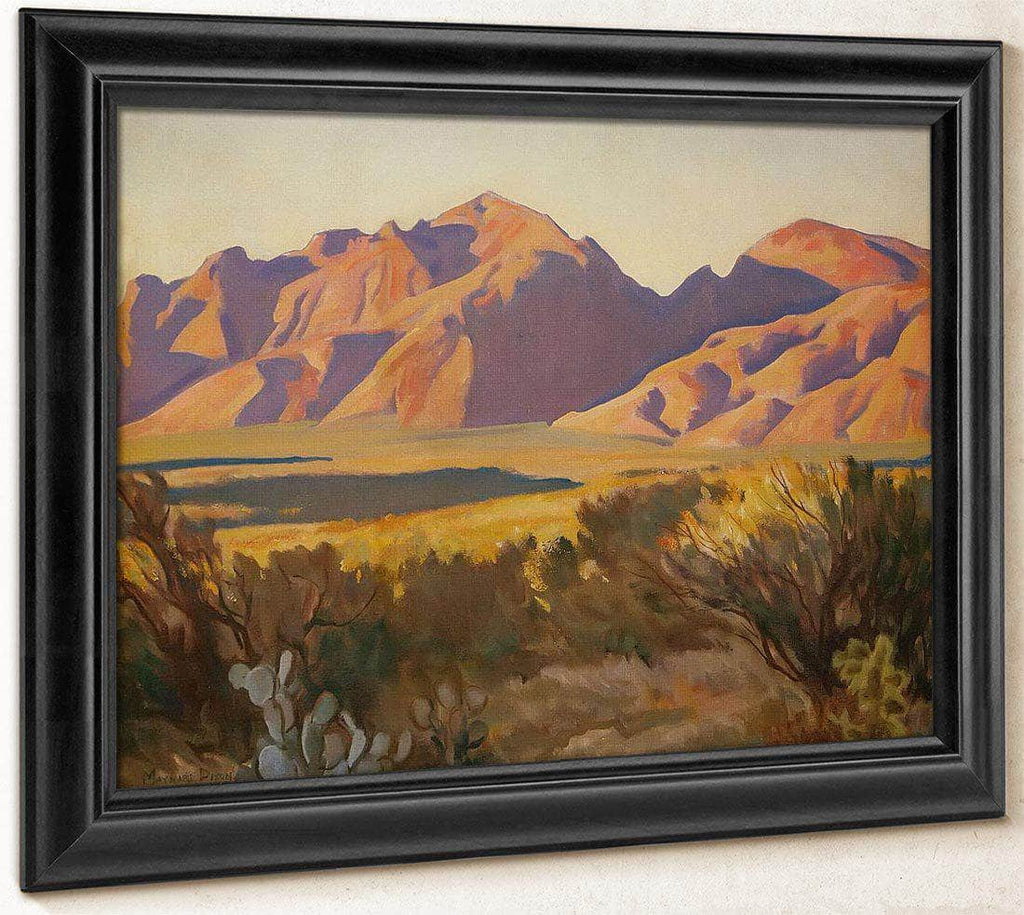 Late Light On The Catalinas By Maynard Dixon