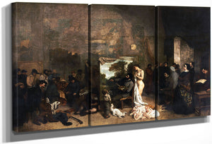 Latelier Du Peintre By Gustave Courbet