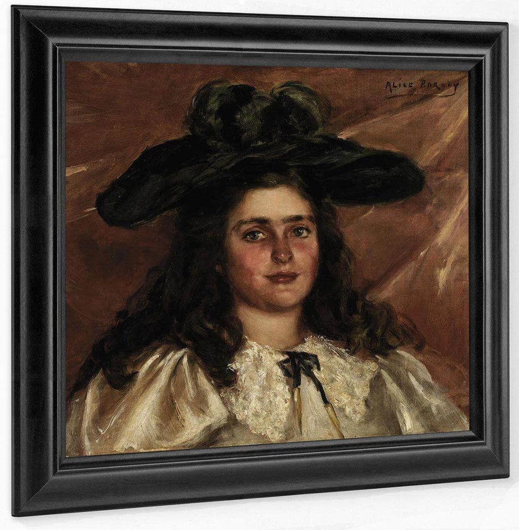 Laura Alice In Big Hat By Alice Pike Barney