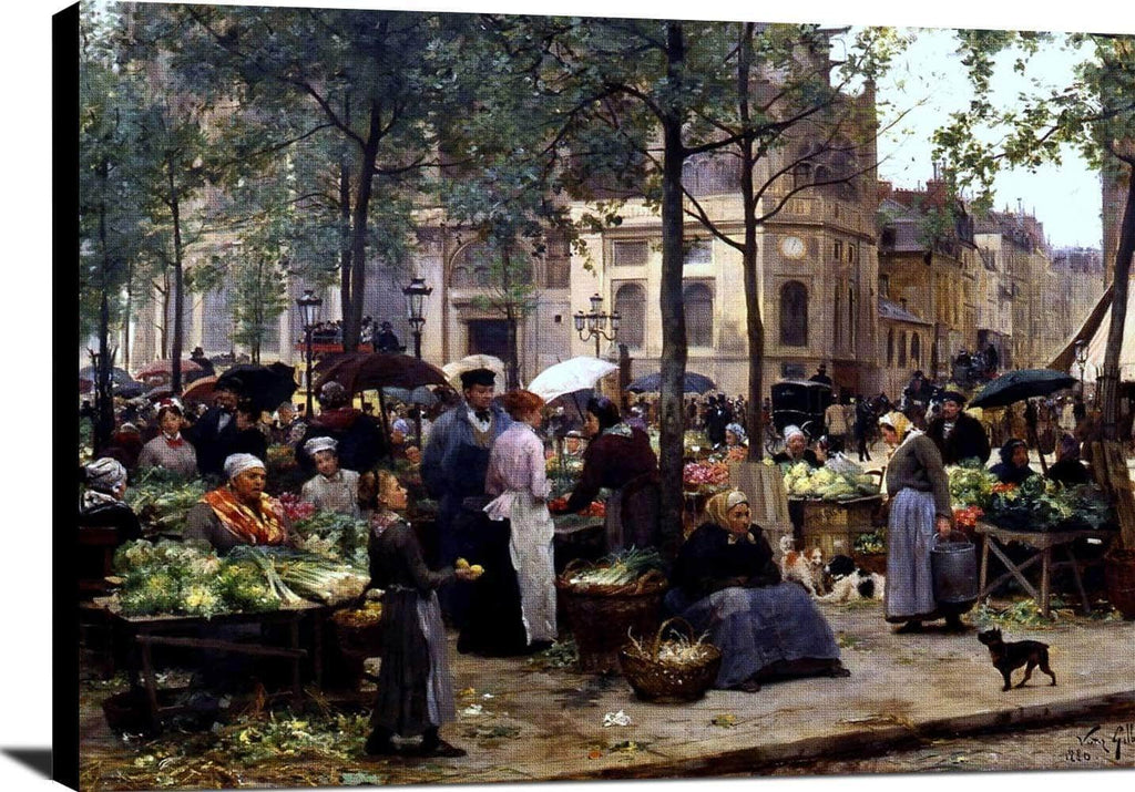 Le Carreau Des Halles Painting Victor Gabriel Gilbert Canvas Art