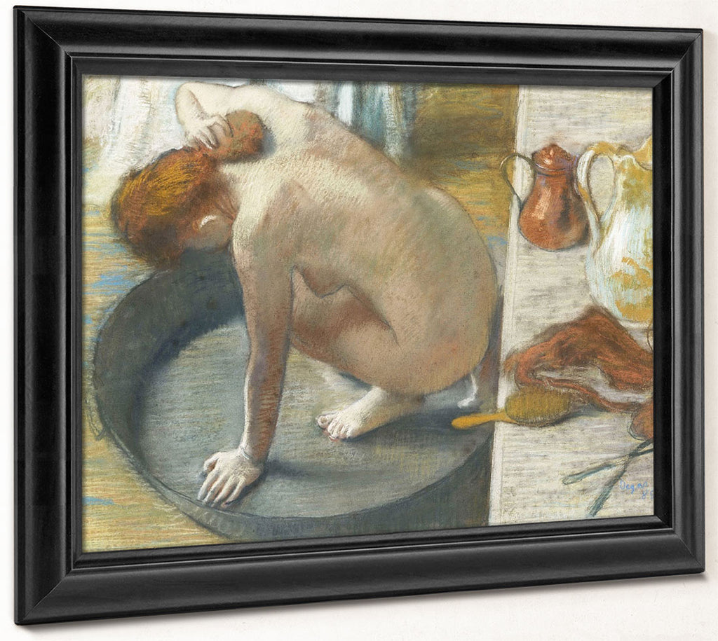 Le Tub By Edgar Degas