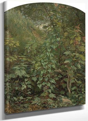 Leaf Study With Yellow Swallow Tail By George Inness