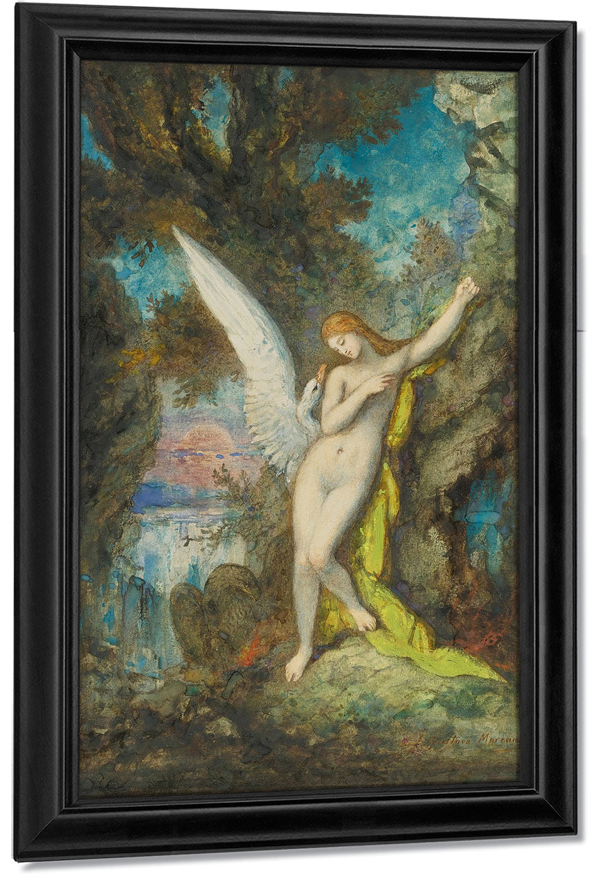 Leda And The Swan 1882 By Gustave Moreau