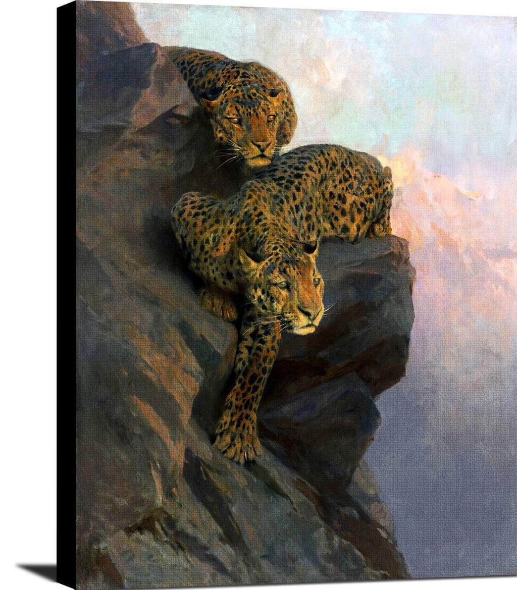 Leopards On The Lookout Painting Arthur Wardle Canvas Art