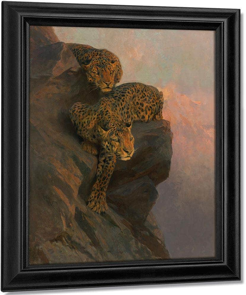 Leopards On The Lookout By Arthur Wardle