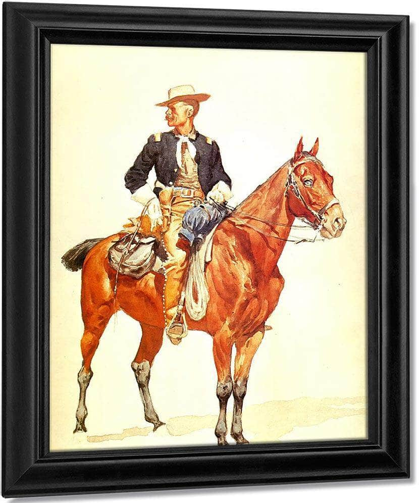 Lieutenant S.C.Robertson,Chiaf Of The Crow Scouts By Frederic Remington