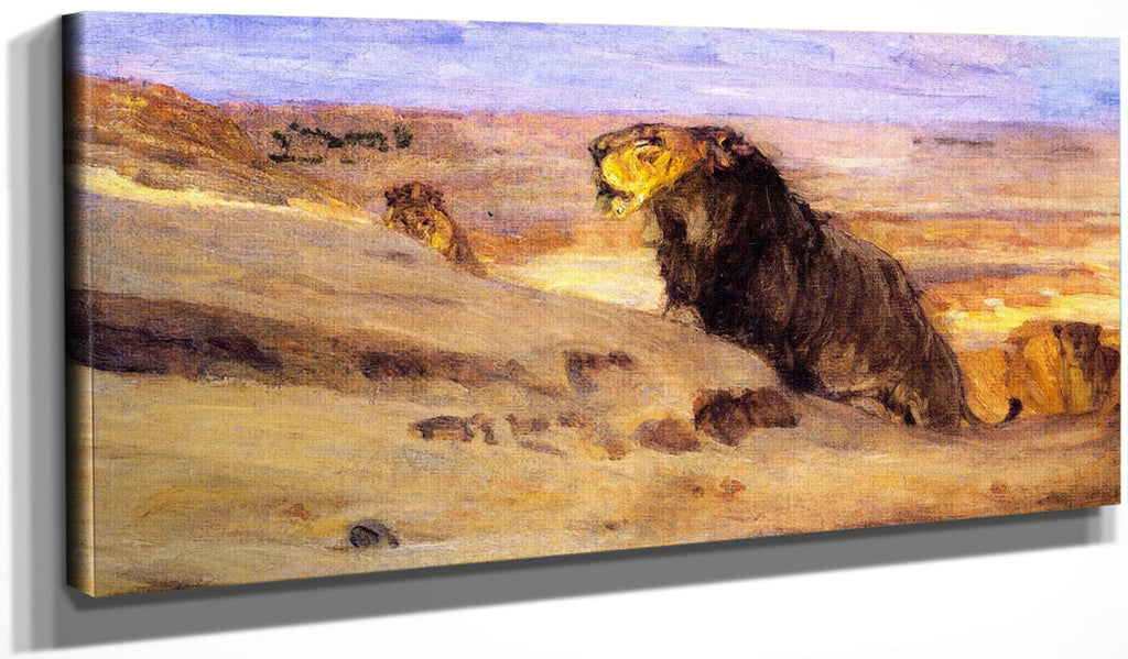 Lions In The Desert By Henry Ossawa Tanner